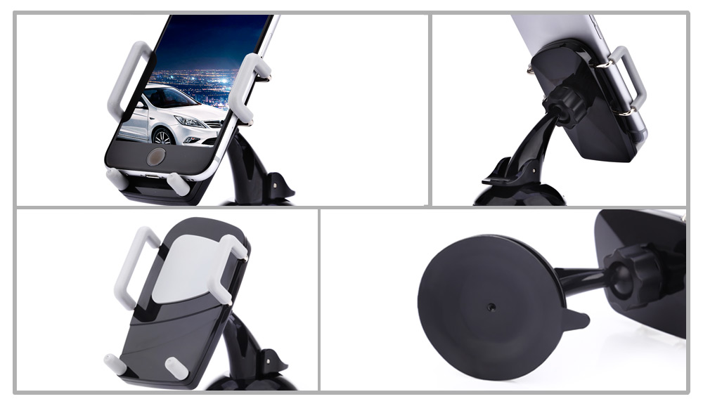 360 Degree Universal Car Cellphone Holder Windshield Dashboard Mount Stand