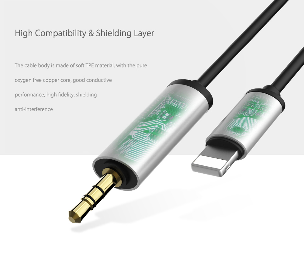 Baseus B37 8 Pin to 3.5mm Stereo Audio Headphone Cable 1.2m