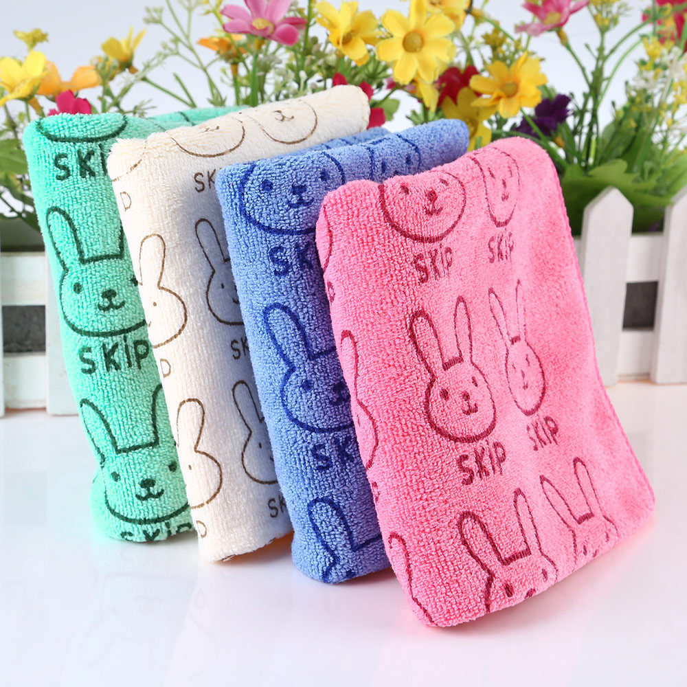 50 x 25cm Sweet Child Cartoon Animal Rabbit Letter Print Towel