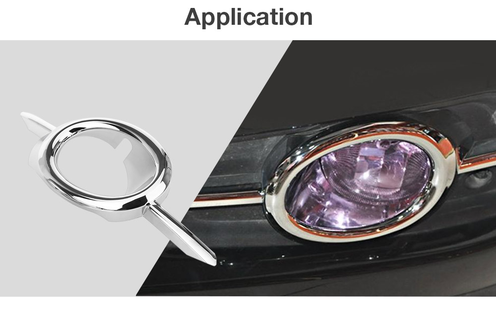 Pair of Automobile Fog Lamp Cover Durable ABS Material Light Weight Back Adhesive Tape for ChevroletCruze