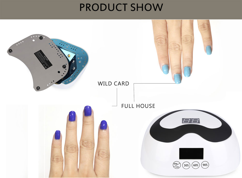 Manicure Tool 24W / 48W Induction LED / UV Dual Source Baking Lamp Nail Dryer