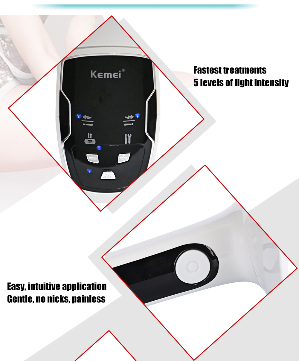 Kemei KM - 6812 Photon Laser Painless Permanent Hair Remover Epilator