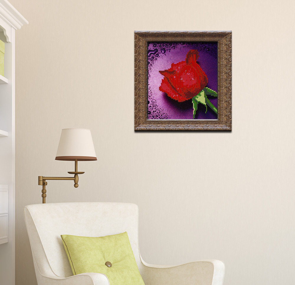 28 x 30cm 5D Dripping Rose Full Drilled Needlework DIY Diamond Painting Cross Stitch Tool Home Decor