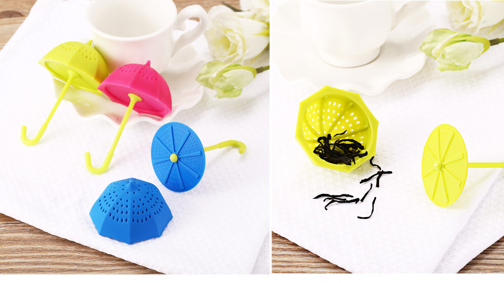 Creative Colorful Umbrella Shape Silicone Tea Infuser Filter