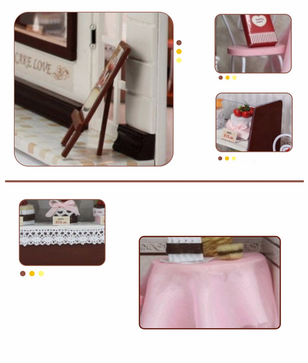 CUTEROOM C - 004 DIY Wooden House Furniture Handcraft Miniature Box Kit - Sweet Cake