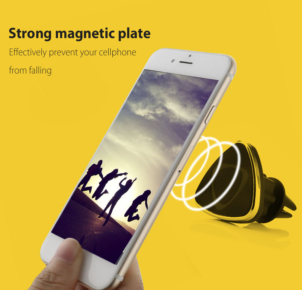 360 Degree Adjustable Magnetic Car Cellphone Holder Air Vent Mount Stand