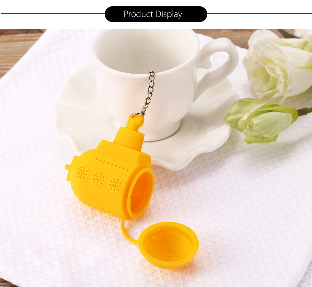 Creative Submarine Silicone Tea Infuser Leaf Strainer