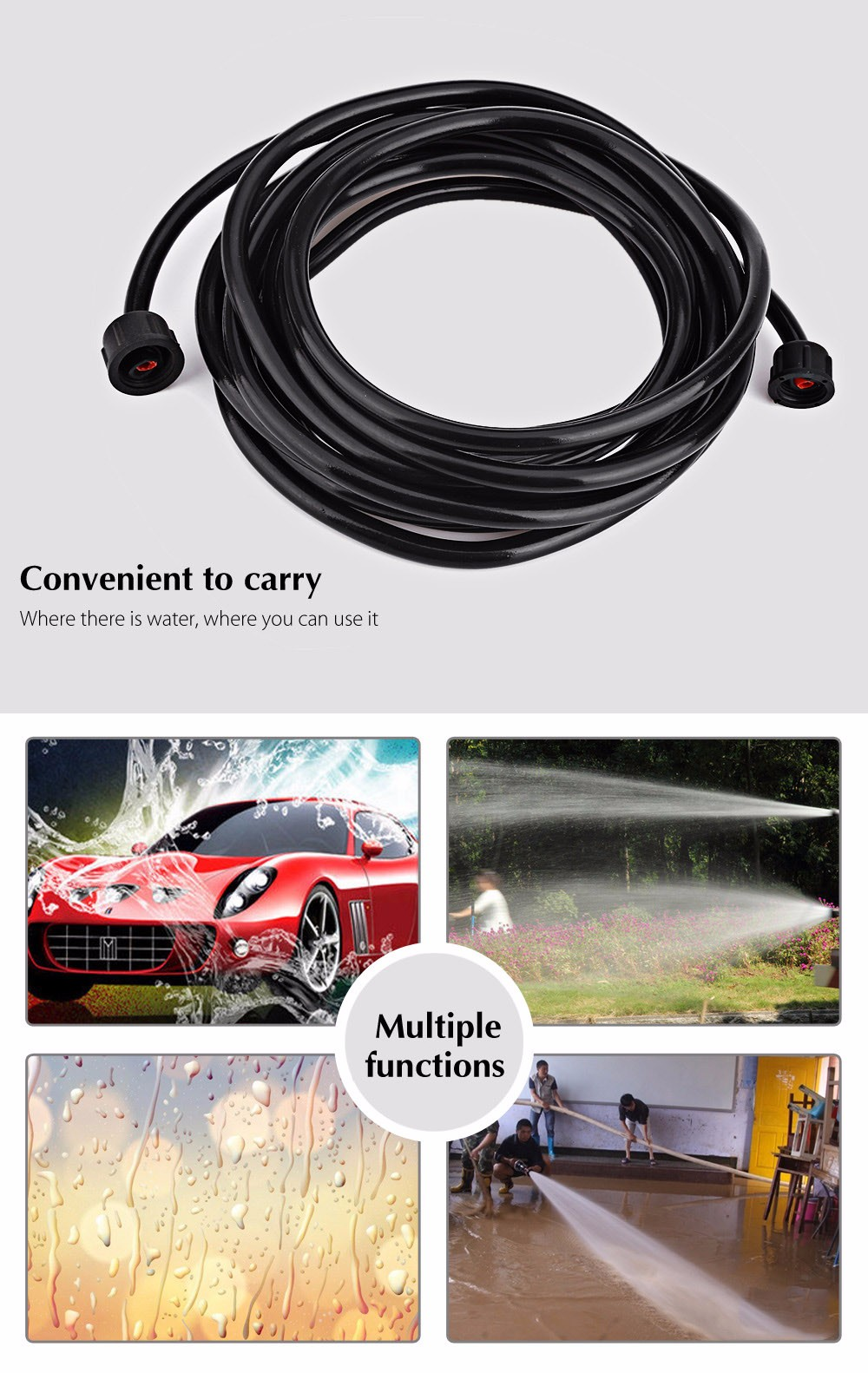 BOJIN 12V 36W High Pressure Cleaning Pump Car Washer Self-priming Vehicular Wash Device