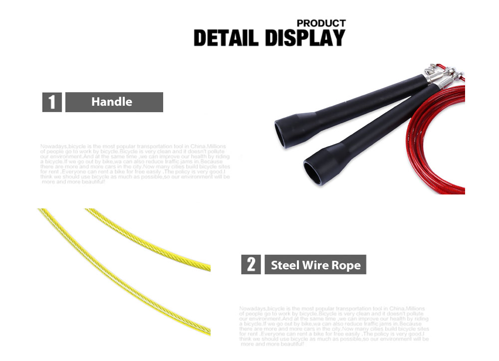 Professional Useful Steel Wire Abrasion Resistance Jump Skipping Rope