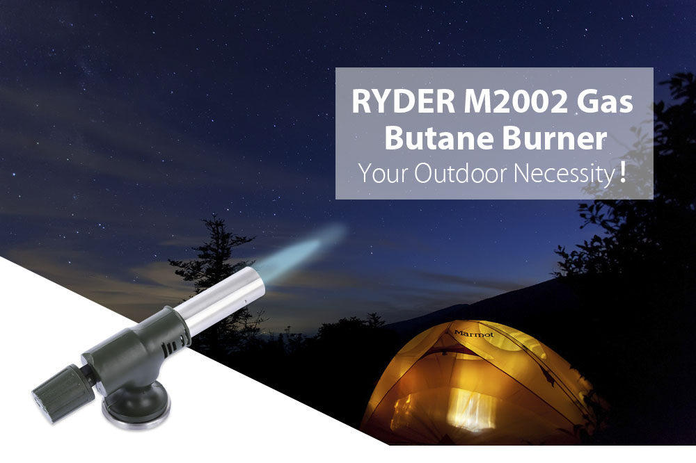 RYDER M2002 Gas Flamethrower Butane Burner Electronic Ignition for Outdoor Travel Camping Welding BBQ