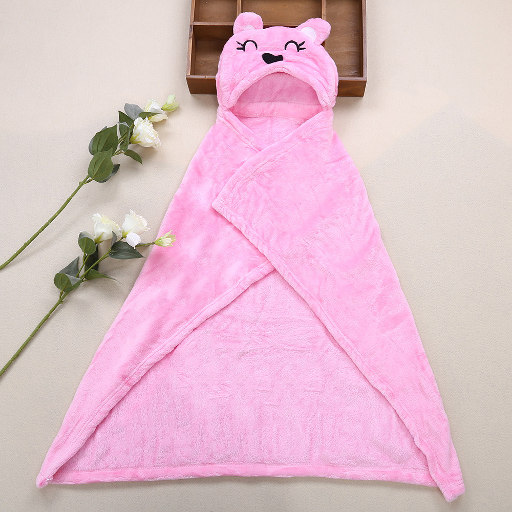 JUST TO YOU Sweet Soft Cartoon Animal Child Cloak Hold Blanket Swaddling