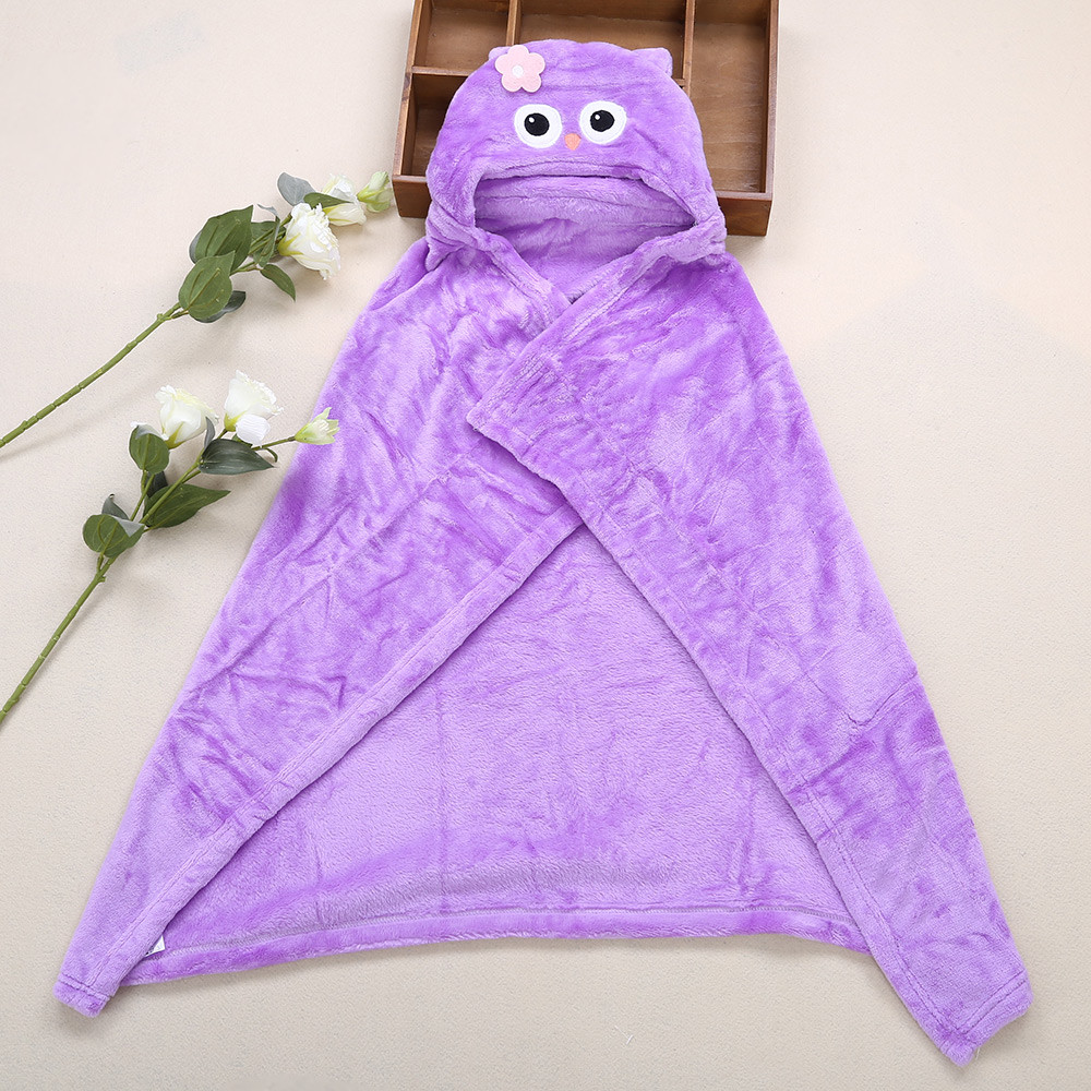 JUST TO YOU Sweet Soft Cartoon Animal Baby Child Farley Velvet Cloak Hold Blanket Swaddling
