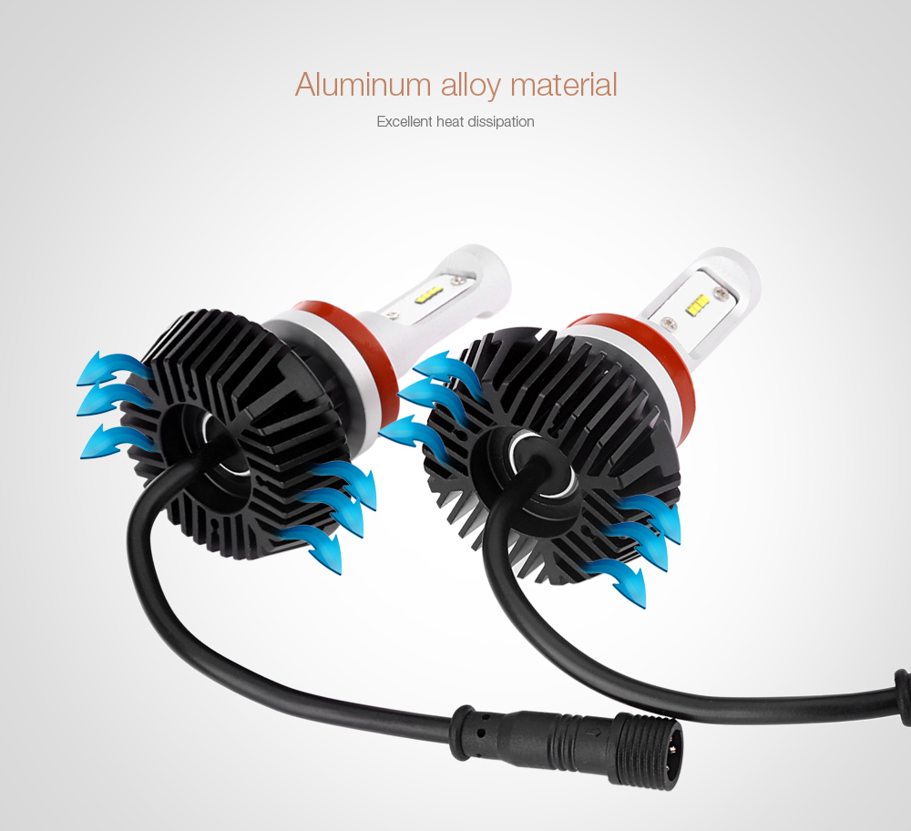 Pair of H8 / H9 / H11 Automobile Integrated LED Headlight 6500K Heat Dissipation 60W Bright Vehicle Lamp