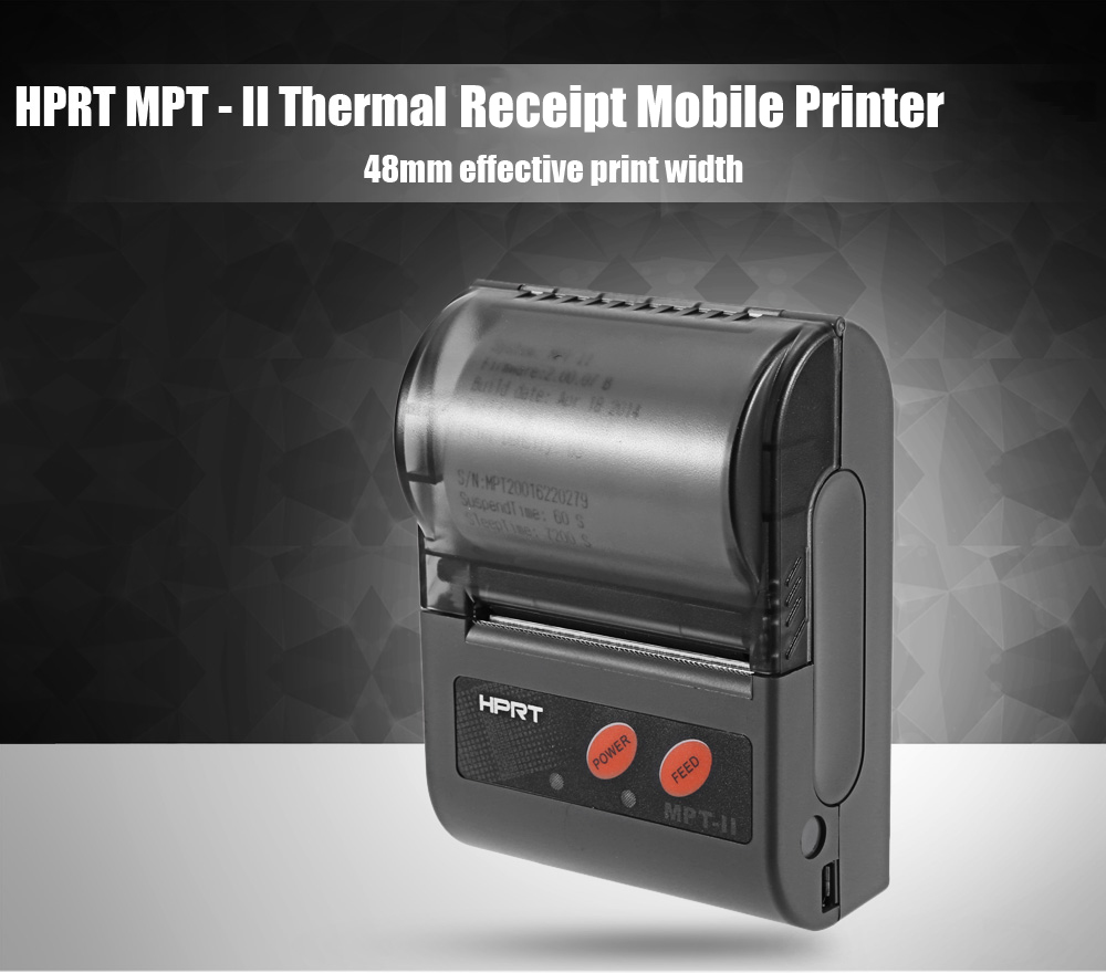 HPRT MPT - II 48mm Thermal Receipt Mobile Printer with USB Port