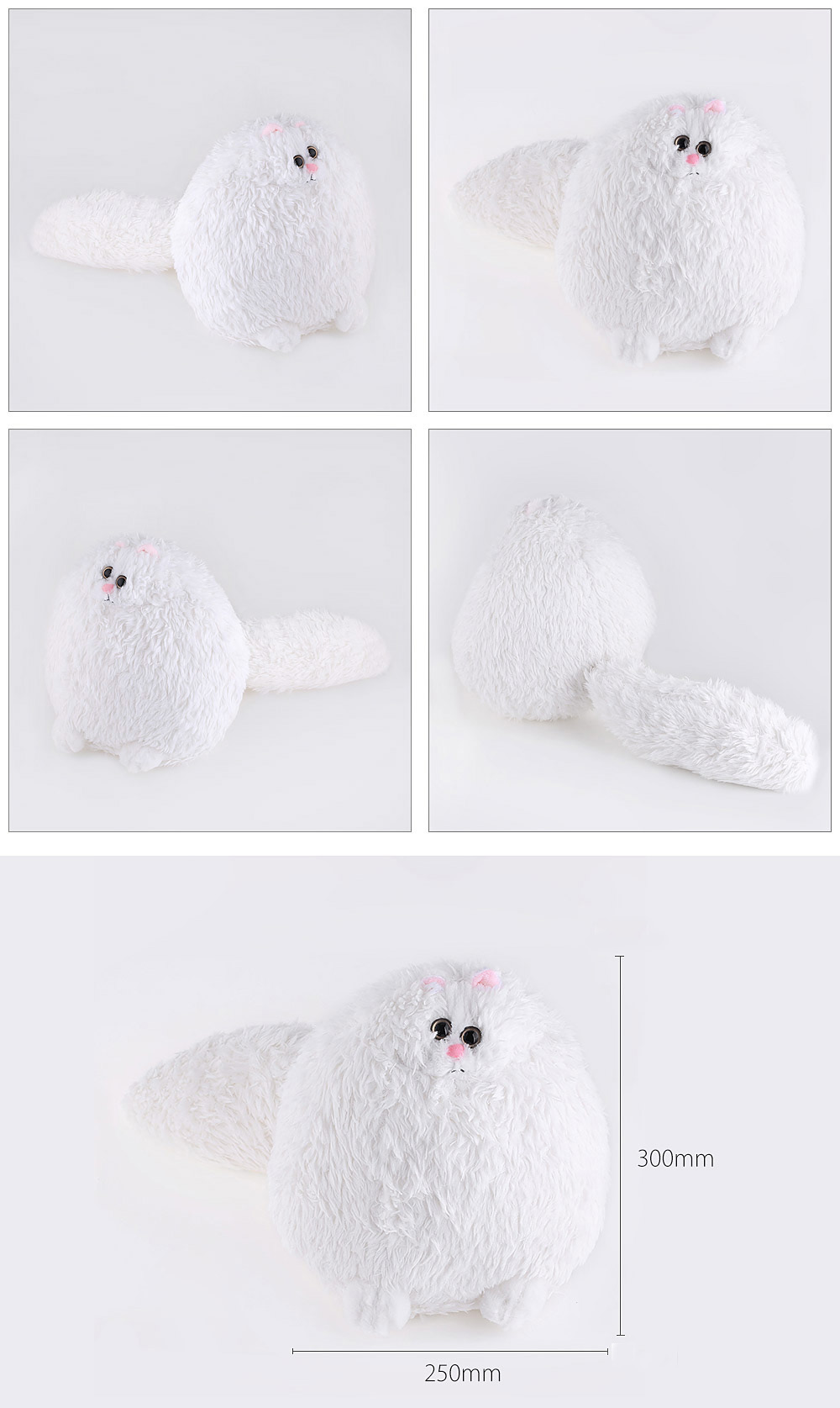Baby Stuffed Lovely Simulation Persian Cat Plush Doll Toy Birthday Christmas Gift