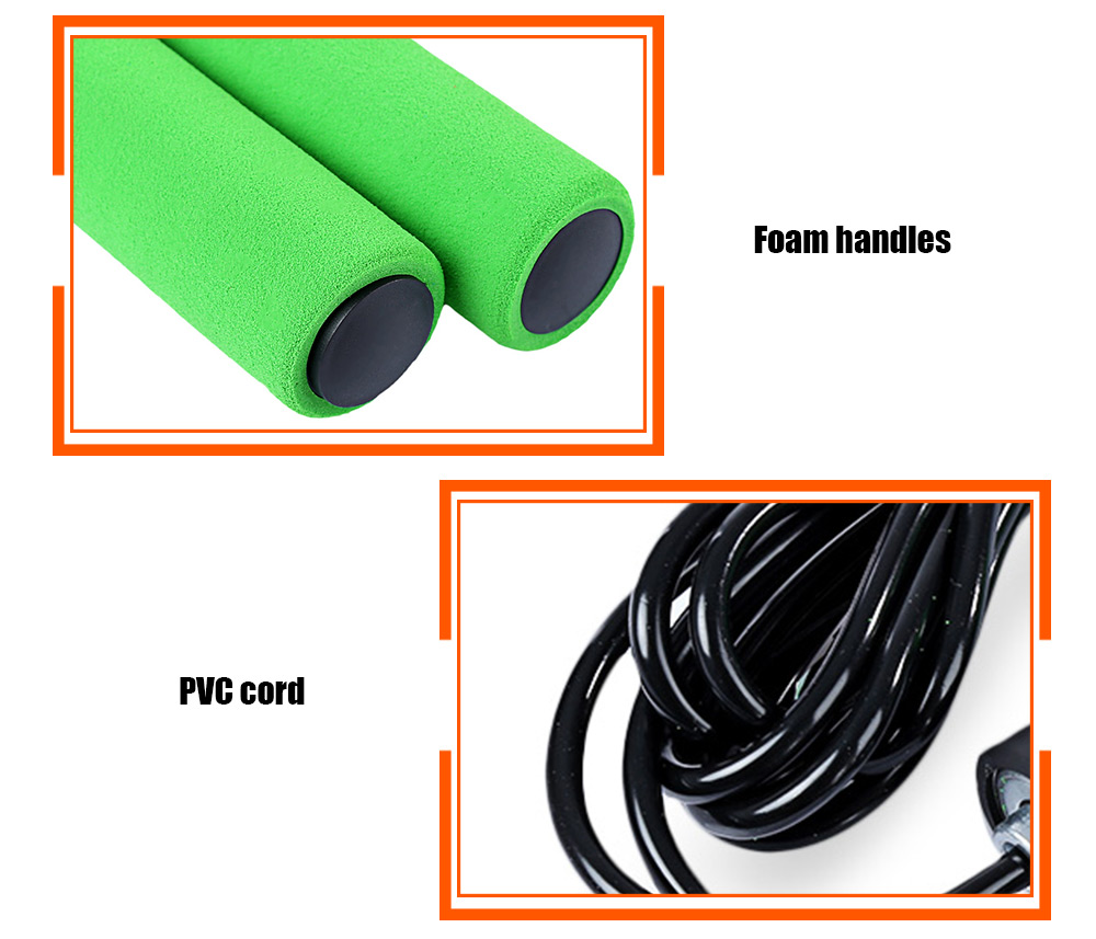 2.8 - 3.2M Sport Skipping Bearing Adjustable Skip Speed Cord Jump Rope Fitness Exercise Equipment