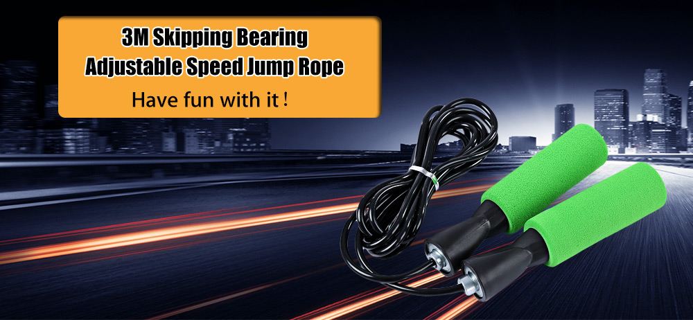 3M Sport Skipping Bearing Adjustable Skip Speed Cord Jump Rope Fitness Exercise Equipment