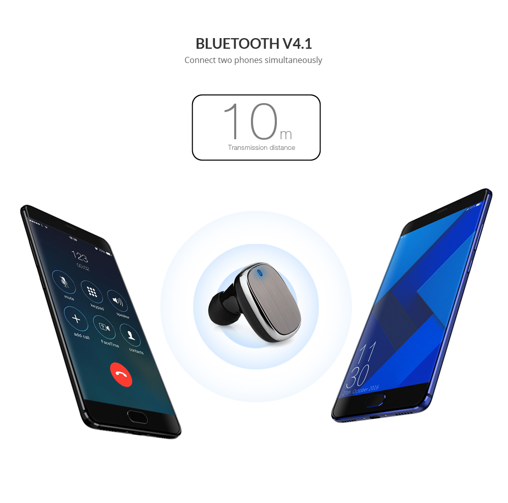 Q18 Bluetooth V4.1 Business Earphones Headphones with Car Charger