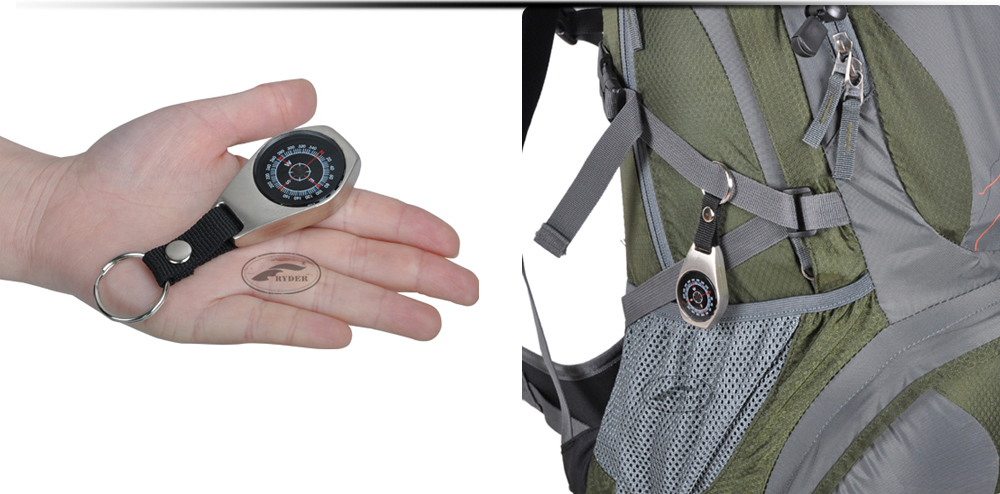 RYDER L3007 Outdoor Camping Multifunctional Hang Buckle Shape Compass