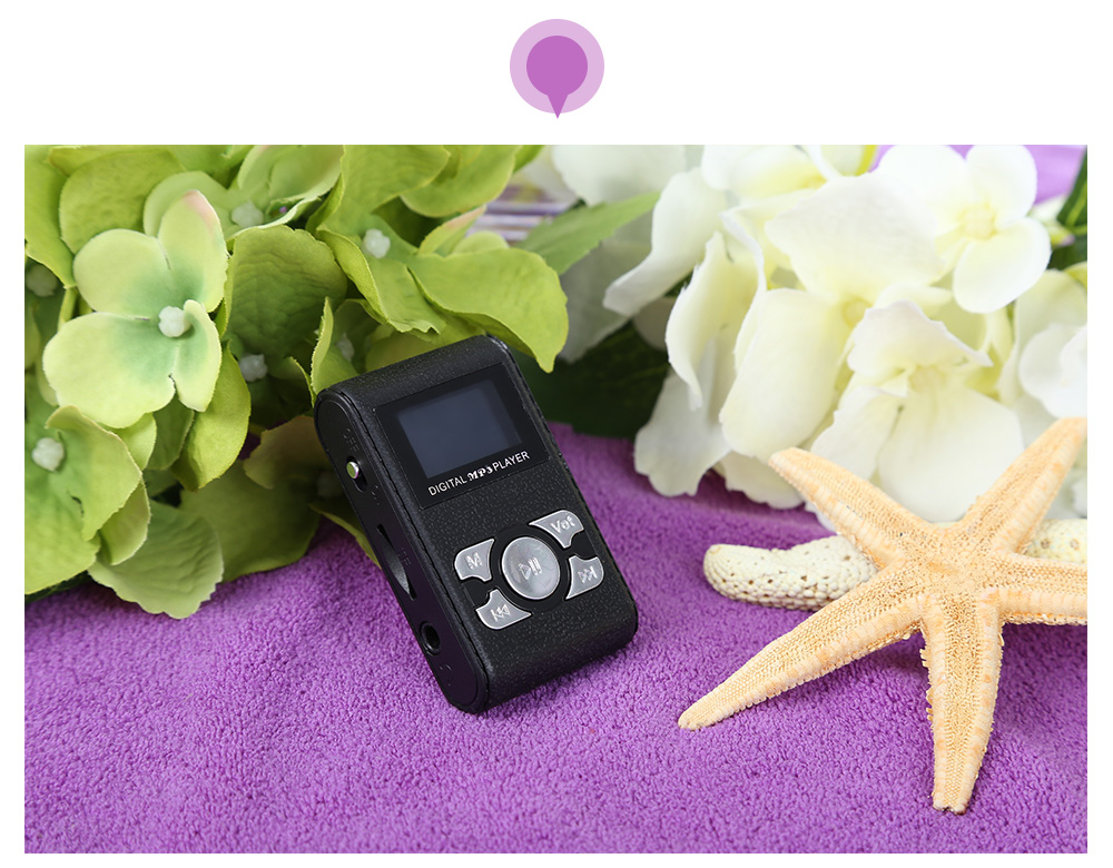 1.1 inch Screen Support 8G TF Card MP3 Player