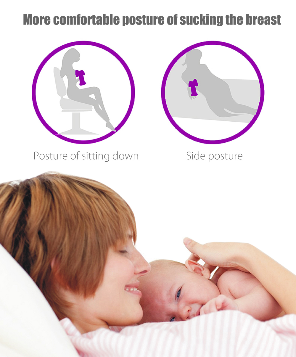 ZIMEITU RH268 Intelligent Electric Massage Noise Reduction Frequency Conversion HD LCD Display BPA Free Breast Pump