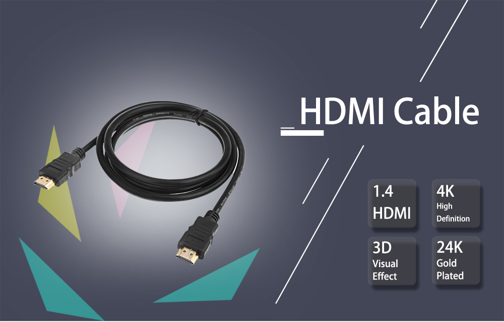 ULTunite 3 in 1 HDMI A 1.4 19 Pin Gold Plated Plug High Speed Port Wire