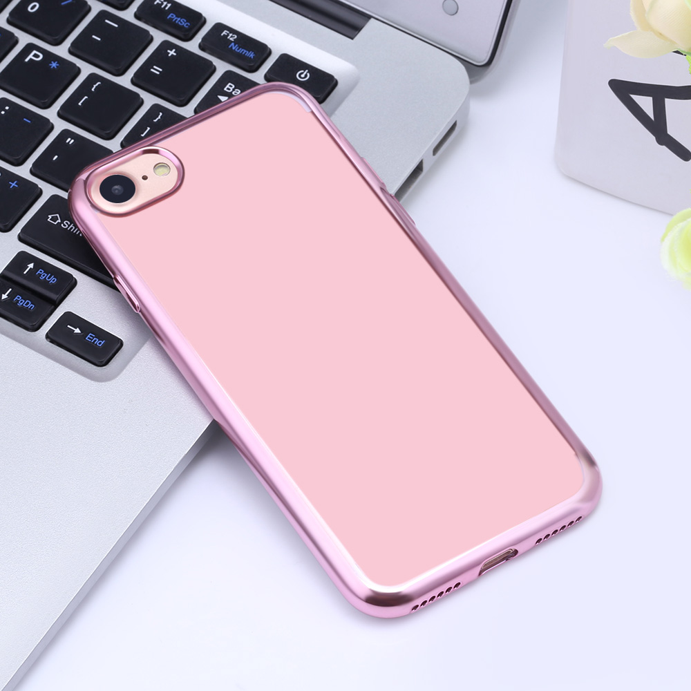 Soft TPU Electroplate Plating Back Cover Case for iPhone 7 4.7 inch