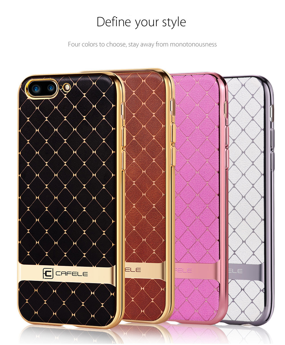 CAFELE Business Style Hourglass Pattern Back Cover for iPhone 7 4.7 inch