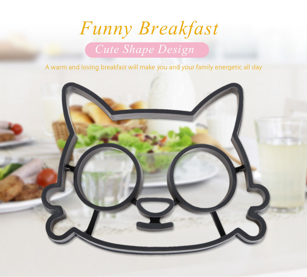 Creative Cat Shape Silicone Fried Breakfast Egg Mold
