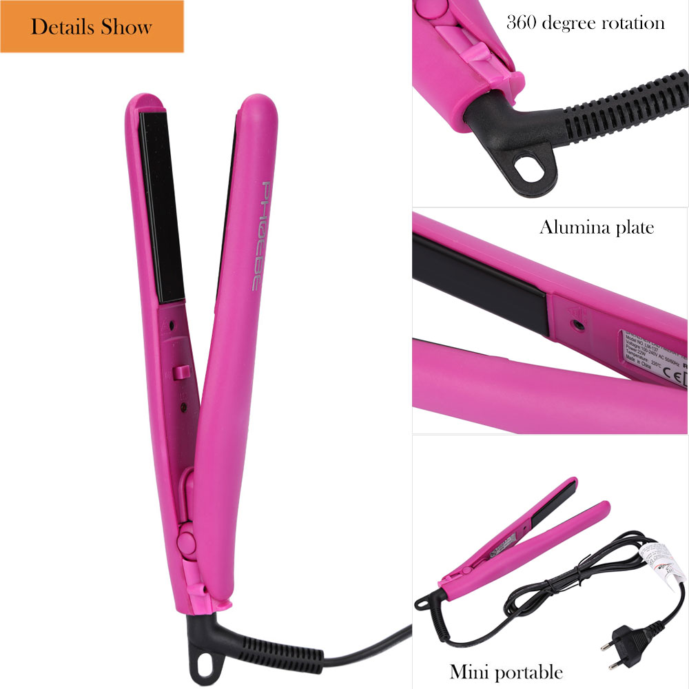 PHOEBE LM - 137 Professional Travel Size Mini Hair Straightener