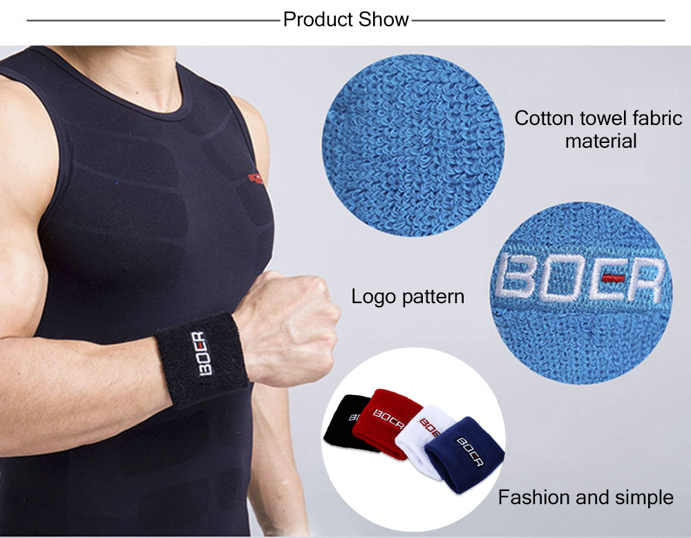 BOER Paired Elastic Wrist Guard Support Band Bracer Protector for Outdoor Basketball Tennis Sport