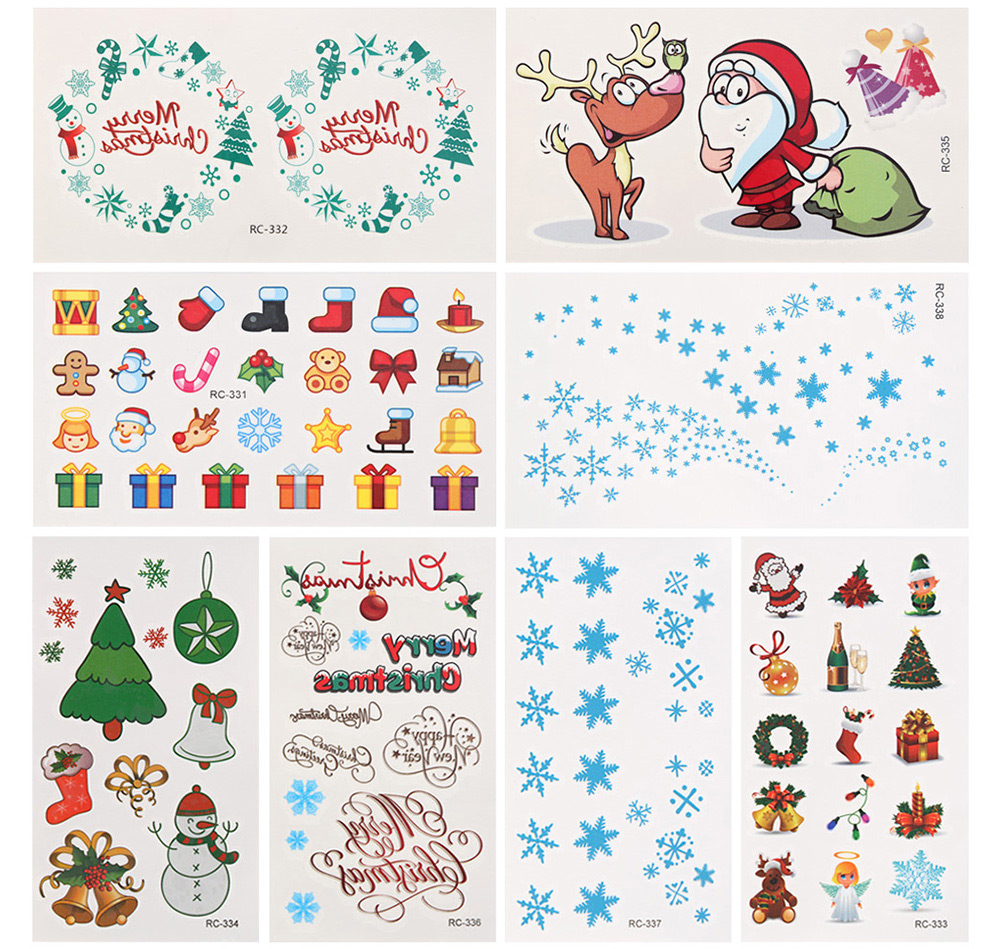 Waterproof Temporary Lovely Tattoo Stickers Little Element for Christmas Presents Makeup Body Art