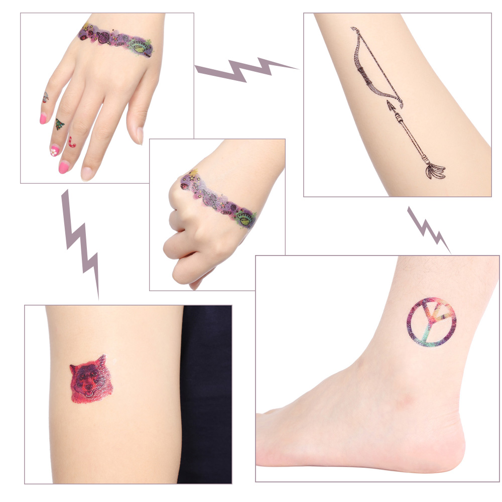 Waterproof Temporary Colorful Harajuku Sky Anime Tattoo Stickers for Christmas Gift Body Art Makeup