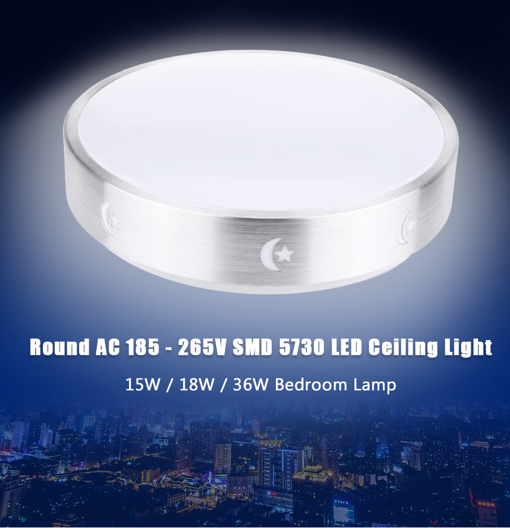 Round AC 185 - 265V 15W 1220LM SMD 5730 LED Ceiling Light Bedroom Lamp