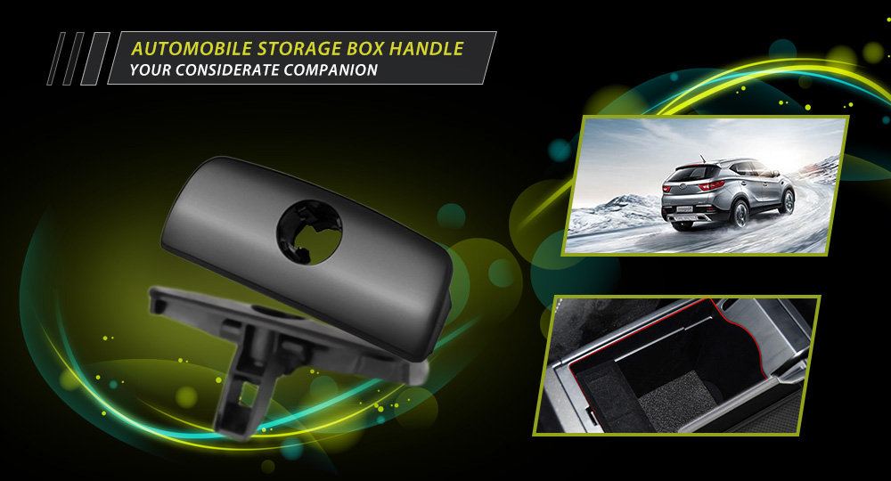 Automobile Storage Box Handle Round Hole Durable Plastic Material for Volkswagen