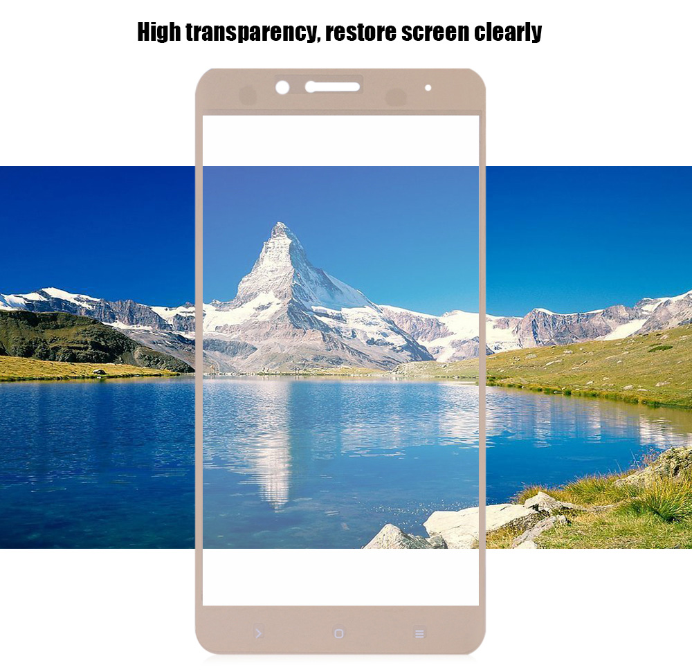 2.5D Tempered Glass Shatterproof Full Screen Silk-screen Protective Film for Xiaomi 5S Plus 0.2mm