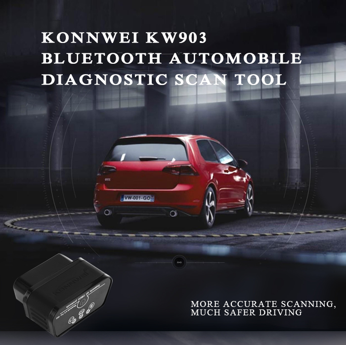 Konnwei KW903 Bluetooth 4.0 Automobile Diagnostic Scan Tool OBDII Professional Solution for iOS System