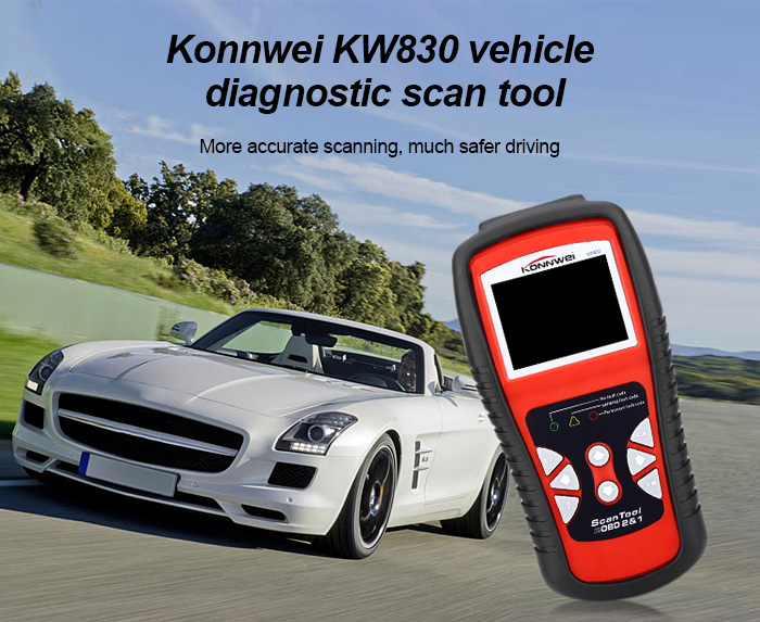 Konnwei KW830 OBDII Universal Vehicle Diagnostic Scan Tool LCD Screen