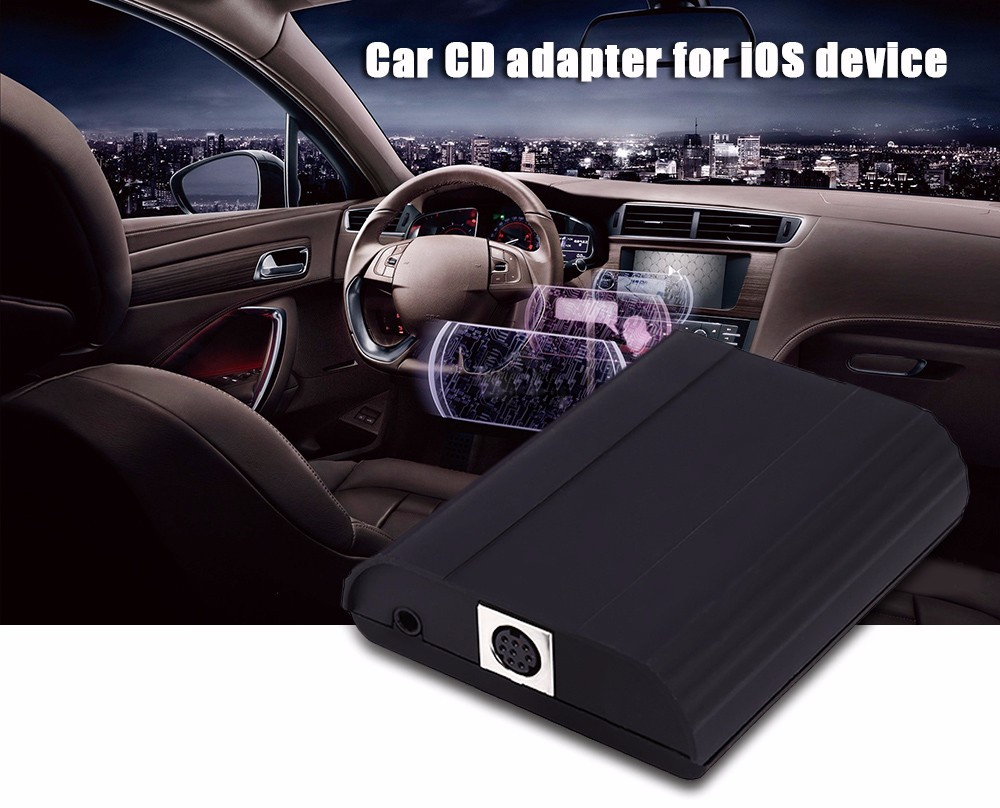 Car CD Adapter 8 Pin AUX Cable Audio Interface Connect Digital Box for Peugeot / Citroen