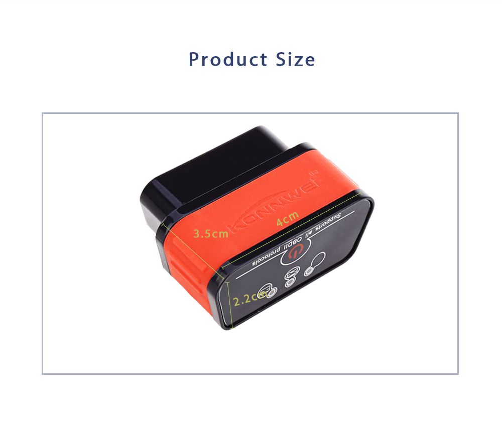 Konnwei KW903 Bluetooth Automobile Diagnostic Scan Tool OBDII Professional Solution for Android System