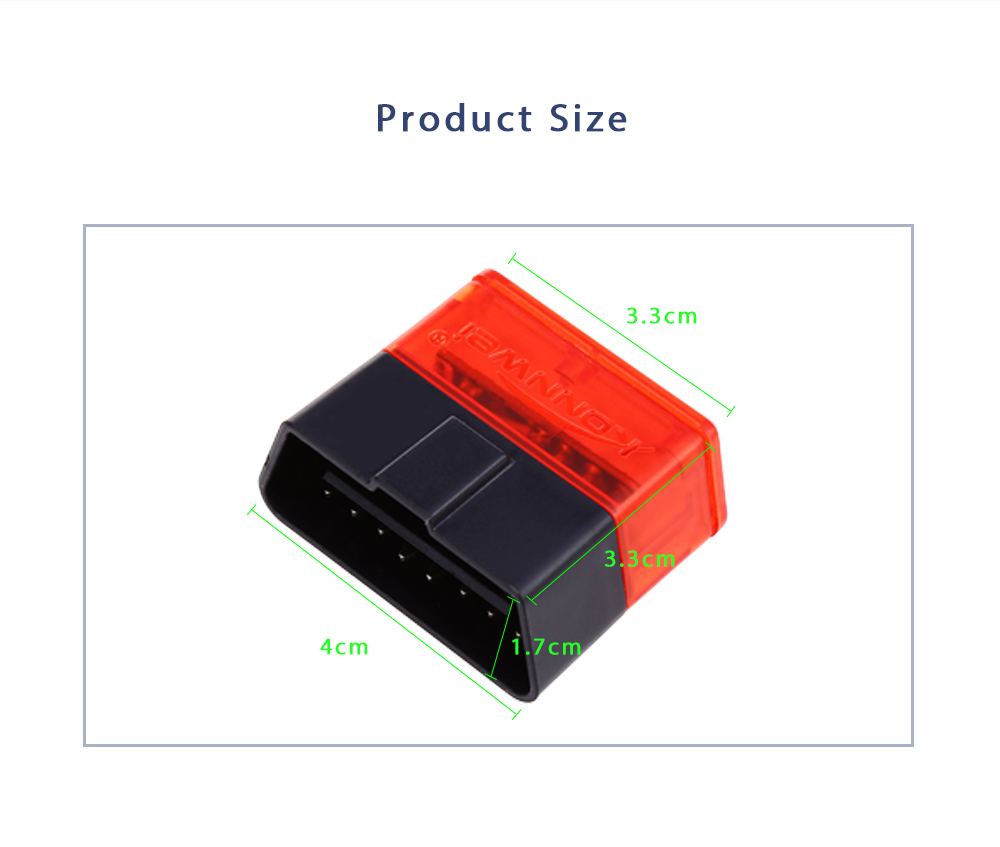 Konnwei KW904 Automobile Diagnostic Scan Tool OBDII Professional Solution for iOS / Android System