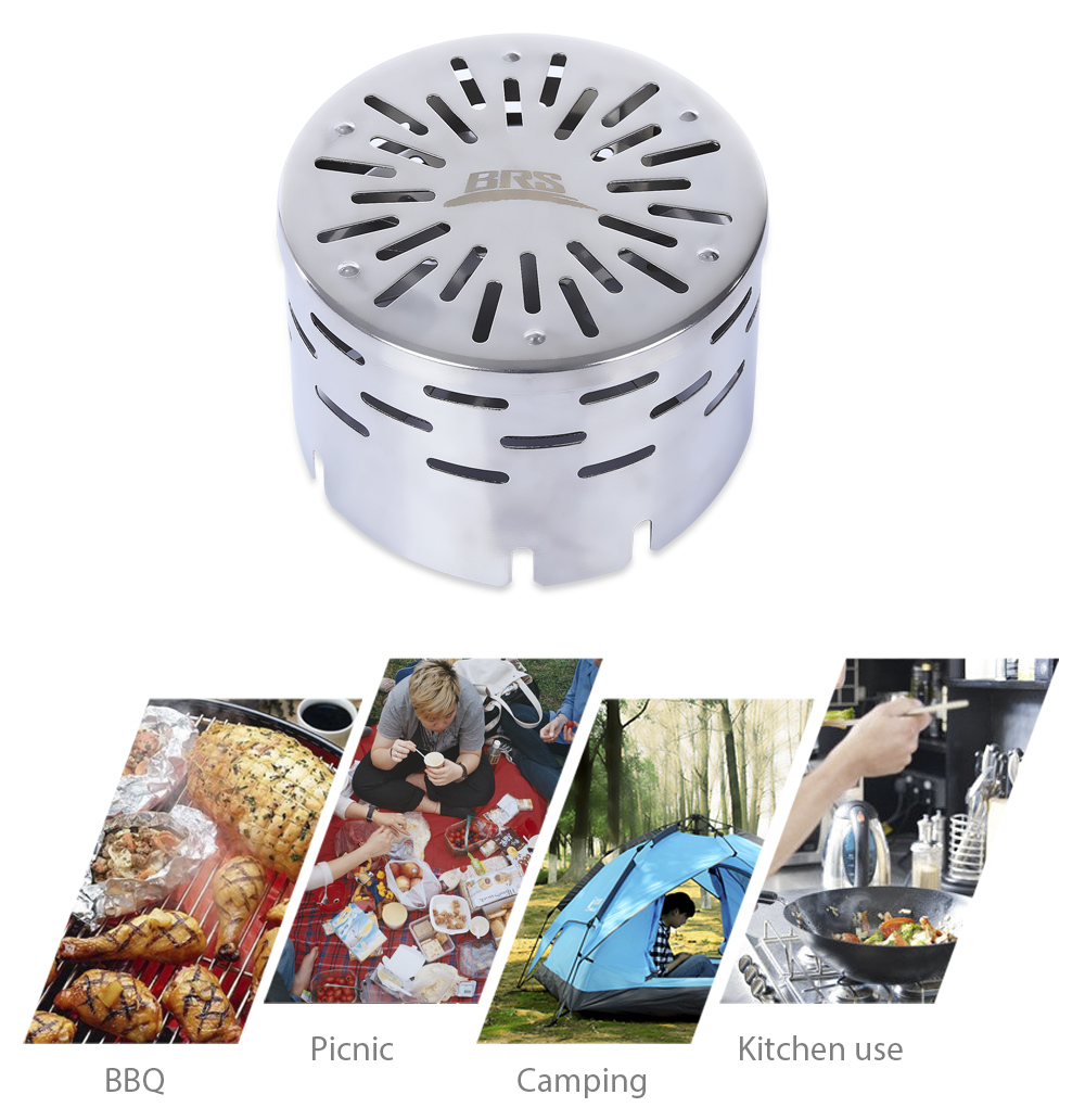 BRS - 24 Outdoor Portable Picnic Camping BBQ Infrared Heating Stove Cover