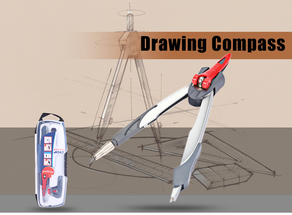 Maped 3 in 1 Useful Drawing Compass for Circle with Pencil Lead