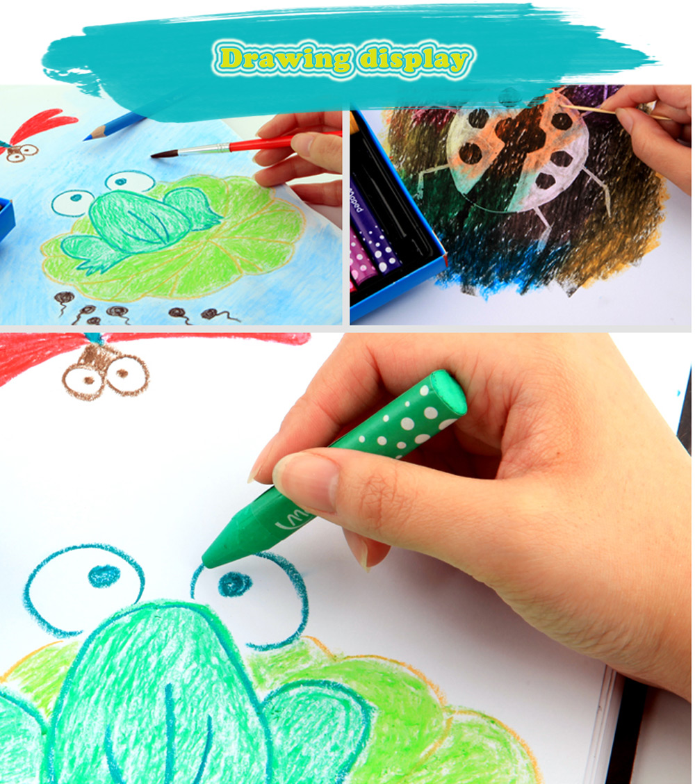 Maped 36 Colors Water Washing Colorful Oil Painting Stick for Kids