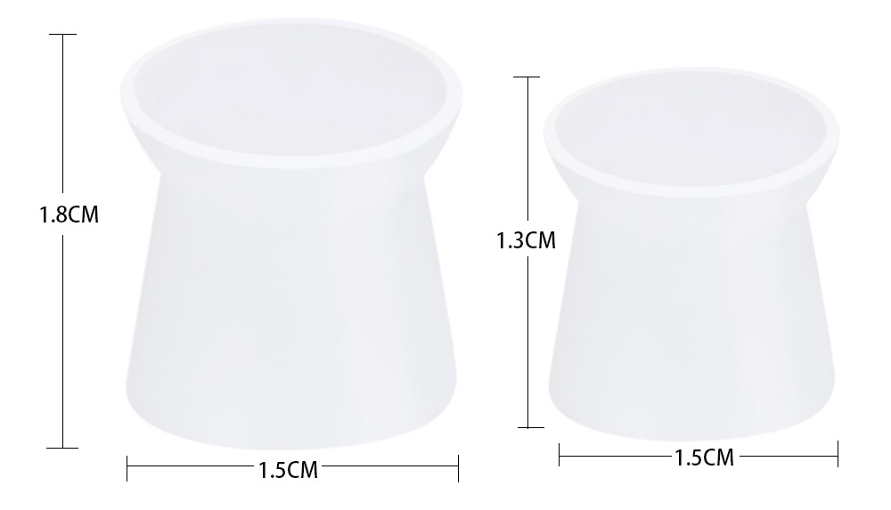 130pcs / Box Large White Color Silicone Tattoo Ink Cups with Base Pigment Cap