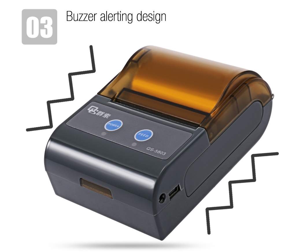 QS 5803 Bluetooth 4.0 Portable Mobile Printer