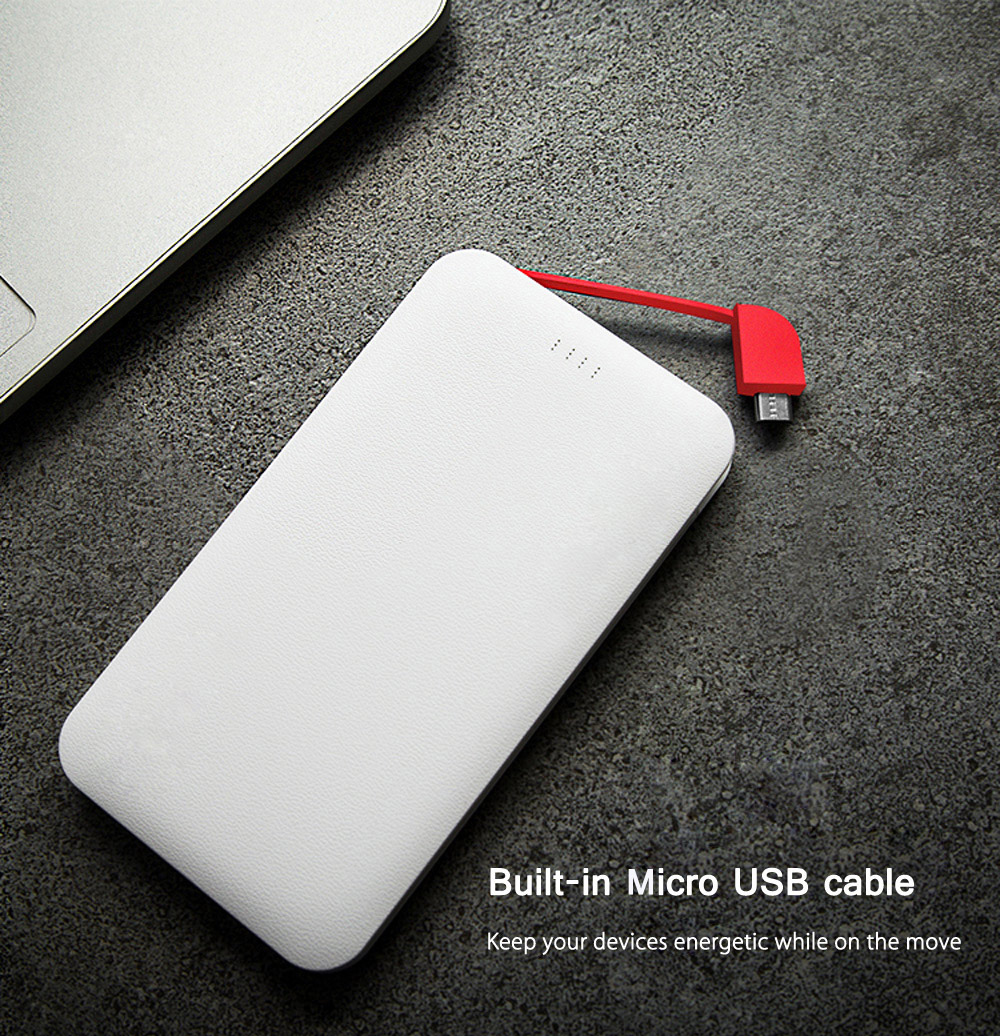 CUBE UMCUBE M101 10000mAh Power Bank Built-in Micro USB Cable 8 Pin Connector