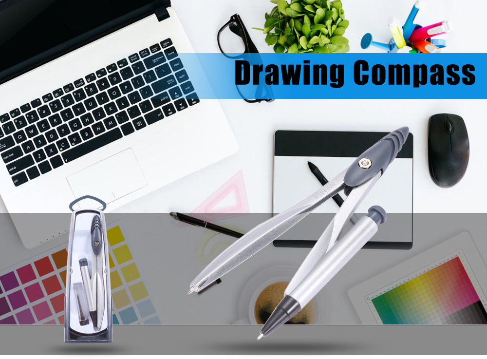 Maped 2 in 1 Useful Drawing Compass for Circle with Pencil Lead