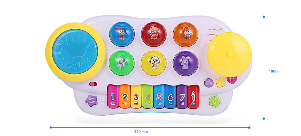 HangLei Baby Preschool Colorful Musical Play Piano with Light