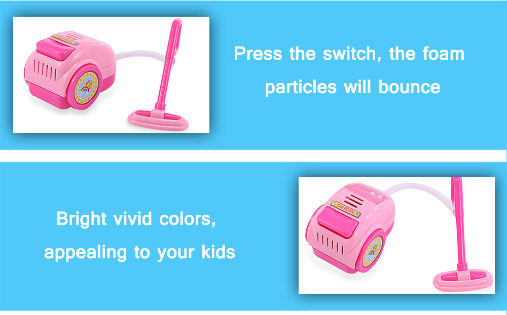 Kids Mini Simulation Appliance Cleaner Educational Pretend Play Household Toy Present